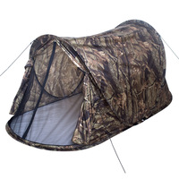 Camouflage high quality automatic 1-2 person single layer ultralight camping tent