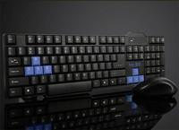 Energy-saving ultra-thin mute wireless keyboard and mouse 2015 new wireless keyboard free shipping