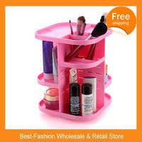 Free Shipping 20/lots HOT SALE 360 Degree Rotation Cosmetic Storage Box Cosmetic Storage Rack Shelf