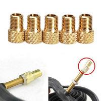 5Pcs Presta to Schrader Tube Pump Tool Converter Bicycle Bike Tire Valve Adaptor H1E1