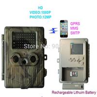 SunTek HT-002LIM Lion Battery 12MP HD IR Wildlife GPRS/MMS Hunting Trail Camera free shipping