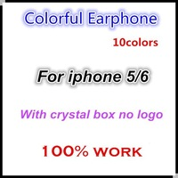 Lowest price !! colorful Headset Earphone For Iphone 5 Stereo With Mic Remote Control 100PCS/LOT