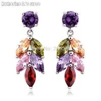Top quality Fashion elegant crystal Drop earring zircon drop earring CEC_00098