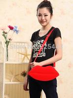 2014 candy color japanned leather red lips bag fashion women handbag shoulder messenger bag small