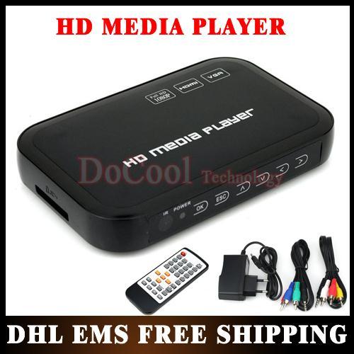 5PCS 1080P Media Player USB External HDD Media Player with HDMI VGA SD Support MKV H.264 RMVB WMV Wholesale!!(China (Mainland))