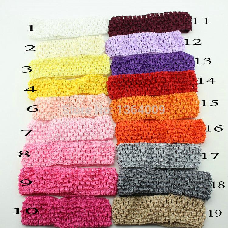 5pcs/lot baby crochet elastic headband crochet hair bands children hair accessories(China (Mainland))