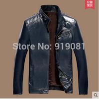 Beverry 2014 men's garment sheepskin leather locomotive haining real leather coat for men