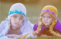 New Cute Kids Children Beanie Girl Winter hat Casual Elsa Anna Fashion Cartoon Frozen Knitted Wool Cap Skullies Beanies Hats