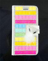 2015 Diamond Luxury Rhinestone Crystal Sexy Bling Lipstick Fox Fur Flip Leather Case Cover For Sony Xperia Z3 Women Phone Shell