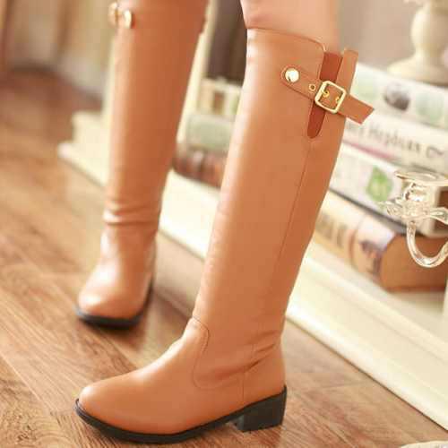 2015 Fashion Flat Platform Knee High Boots For Women Sexy Casual Flat Platform Long Knight Boot Ladies Shoes Drop Shipping(China (Mainland))