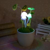 Wholesale Mushroom lamp smart pvc Dream Bed Lamp led photo switchable mushroom bonsai small night light