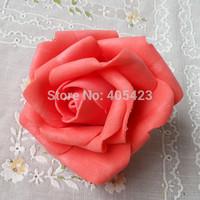 Home & Wedding Decoration 7 cm Artificial Foam PE Rose Flower Head DIY rose flower Wedding Bouquet