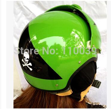 Masei Green Skeleton US AIR JET Pilot Helmet Fight Helmet Free Shpping(China (Mainland))