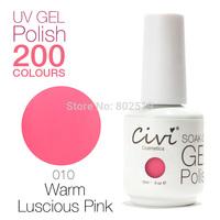 Civi Nail Gel Soak off UV nail gel 30 days Long Lasting 200 Gorgeous Colors The Best Gel Polish Choose 9 Colors