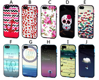 1pcs Soft TPU + Bumper Mix Dream Dandelion Happy Love Rose Flower Butterfly Clouds Owl Case For Iphone 5 5S