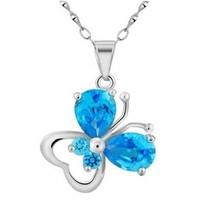 S990 sterling silver pendant Heart butterfly shape,free shipping.