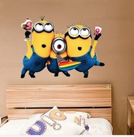 Hot Selling Despicable Me 2 Minion Movie Decal Removable Wall Sticker Home Decor Art Kids /Nursery Loving Gift