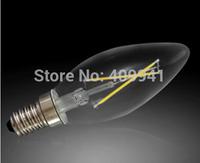 2W E14 220V or 110V LED Filament bulbs Light Clear Glass Housing LED Lamp high brightness Warm White or Pure White