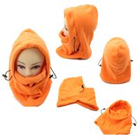 2014 HOTSALE orange Solid Color Winter Masks Ski Mask Winter Outdoor Warm Hat Windproof Cycling Fleece Hat Windproof warm cap