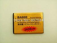 DHL  shipping 100pcs/Iot  Gold 2430mAh Battery For  SONY ERICSSON   U ST25i BA600
