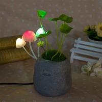 Wholesale LED Mushroom Lampion Night Light Lamp 220v/110v Romantic Effect Avatar Home Desktop Decor Free Shipping