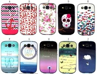 1pcs Soft TPU + Bumper Mix Dream Dandelion Happy Love Rose Flower Butterfly Clouds Owl Case For Samsung Galaxy S3 i9300