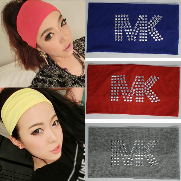 Fashion Hair Accessories Women Casual Sports Headband Wide Hairband Stretch Ribbon Cotton Hairband Women MAC0080(China (Mainland))