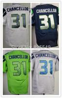 Cheap Seattle #31 Kam Chancellor American Football Jerseys Home Navy Blue Road White Green Gray Stitched Jerseys Size M-XXXL