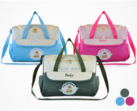Wholesale Fashion Designer Zipper Baby Nappy Pram Bag Mummy Bag Mother Multifunctional 3 Colors Tote Bag Handbag Free Shipping