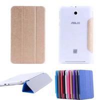 "HF Slim Folding 3-Folder Leather + Clear Back cover Skin For ASUS Memo Pad 7 FE176C FE176CX 7"" Tablet"