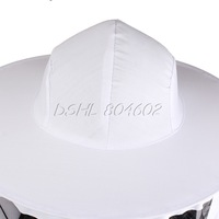 Nylon White Beekeeping Protecting Suit Jacket Pants Veil Fits Most Adult