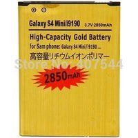 DHL  shipping 100pcs/Iot  Gold 2850mAh Battery For  SAMSUNG Galaxy S4 mini I9190 I9192 i9195 i9198 9190 9192