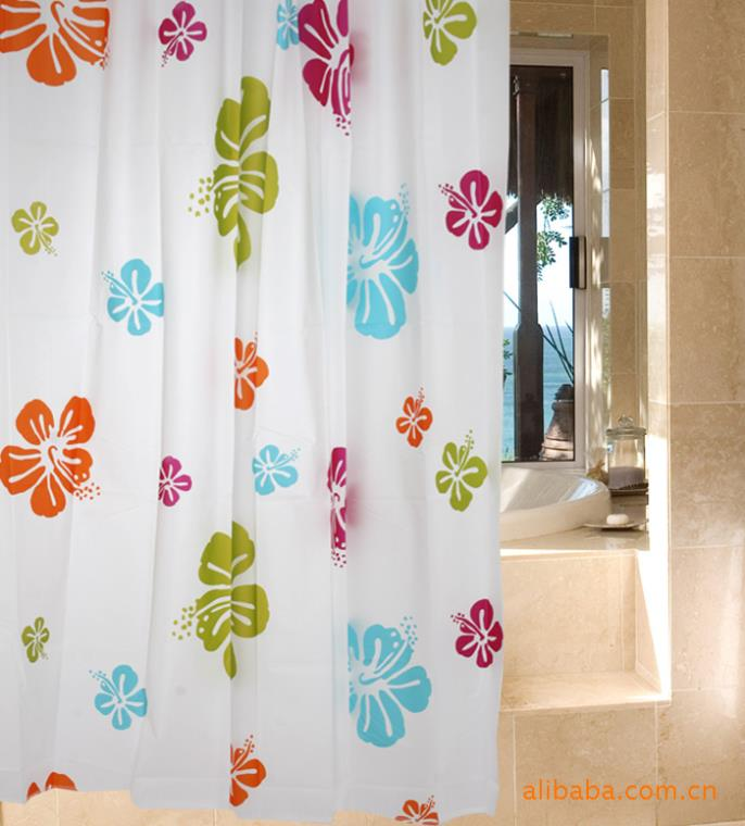 180x180cm,180x200cm Windows curtain waterproof bathroom drapes restroom partition valance free shipping(China (Mainland))