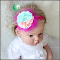 9pcs/lot 2015 new shabby flower priincess frozn headbands baby girls hair bow hair accessories