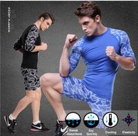 Fashion  Mens Black Blue Bodysuits Slim Body Shaper For  Male