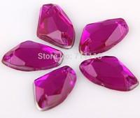 8.5*14MM Acrly stones,Rhinestones,Flatback shaped stones shaped stones 2holes shoes accessories.300pcs/lot Free shipping