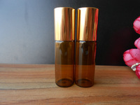 30x5ML AMBER LOT SMALL EMPTY PERFUME ROLL ON ROLLER BALL GLASS BOTTLE