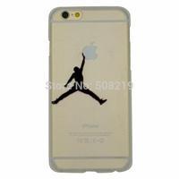 New Fashion Jordan Shoot a Basket Transparent  Cover Back Case For iphone 6