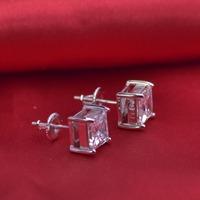 LSE941 Screw Back 925 silver earring women jewelry earrings stone 7mm, free shipping