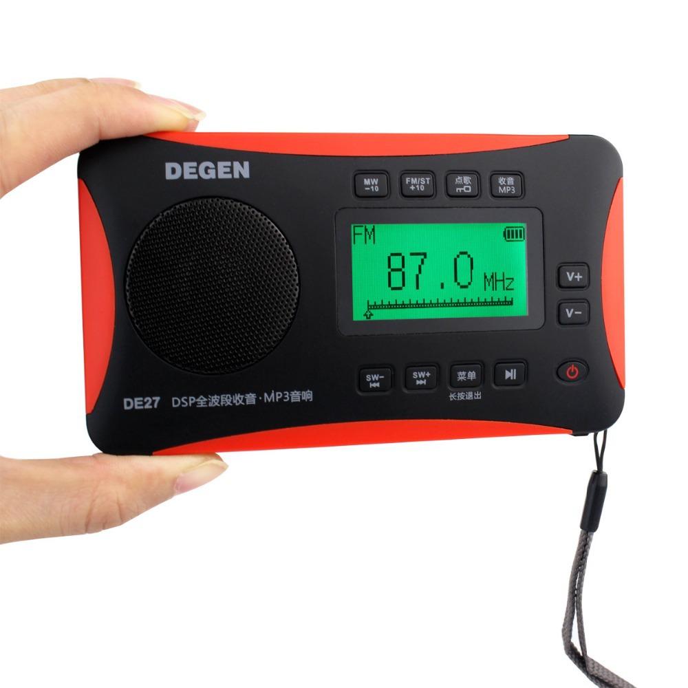 New DEGEN DE 27 FM Radio Stereo MW SW DSP Digital Receiver World Band Radio MP3