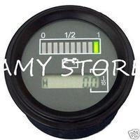 12 Volt battery indicator & hour meter Gauge resetable