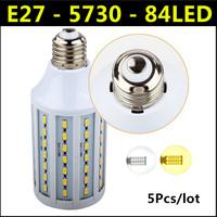 2014 Ultrabright SMD 5730 LED Lamp 25W E27 84led AC 220V-240V Warm White/White Corn Bulb Light For Christmas decoration 5pcs/lot