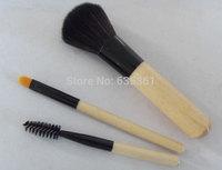 Hot sale cute 3pcs makeup brush set mini size cosmetics brush kits