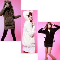 New Women kawaii Go 2 Sweet Teddy Bear Ear Fleece Hoodie Top Jacket 3 color