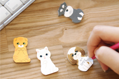 Cute Dog Stickers Pads Puppy House It Adhesive Memo Notes Cute Cat Bookmark Memo Marker Free Shipping(China (Mainland))