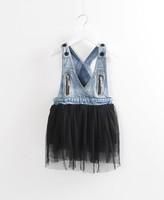 5pieces/lot, Spring Autumn V-neck Lace Hem Children Girls Demin Waistcoat / Vest for Baby Kids,  A-bxb087