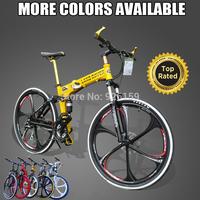 "Aluminium Folding Mountain Bicycle 21 Speed Bike MTB Bicicleta Disc Brakes Magnesium Wheel Folding Bicycle 26""x18"" Free Shipping"