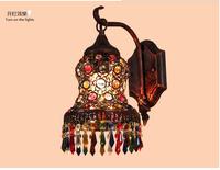 Vintage crystal single head wall lamp lamp of bedroom the head of a bed dresser bathroom ark lens headlight