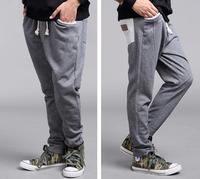 Autumn Kids Harem Pants Elastic Belt Next Cotton Children's Wear Sweatpants Loose Sport Trousers For Teen Boy Clothing F4DX-104