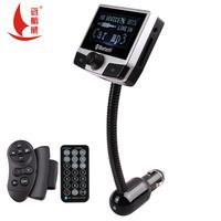 2015 Newest 2.4'' LCD display Bluetooth Car Kit handsfree speaker MP3 Player FM Transmitter Modulator Remote Control USB/SD/MMC